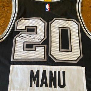 Manu Ginobili Jersey Spurs Authentic Autographed